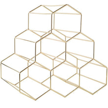 Load image into Gallery viewer, INSPIRA LIFESTYLES - Geometric Wine Rack - ACCESSORIES, DECOR, DECORATION, GOLD, KITCHEN, LIQUOR DISPLAY, ORNAMENT, ROSE GOLD, WINE RACK