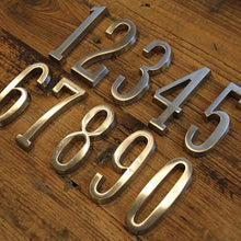 Load image into Gallery viewer, INSPIRA LIFESTYLES - Self-Adhesive House Number Satin Nickel - ADDRESS, DOOR NUMBER, HARDWARE, HOME & GARDEN, HOUSE NUMBER, SATIN NICKEL, SIGN
