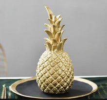 Load image into Gallery viewer, INSPIRA LIFESTYLES - Pineapple Sculptures - ACCESSORIES, BLACK, DECOR, DECORATION, GOLD, PINEAPPLE, RESIN, SCULPTURE, WHITE