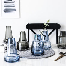 Load image into Gallery viewer, INSPIRA LIFESTYLES - Buoy Tinted Glass Vase - ACCESSORIES, DECOR, DECORATION, GLASS, VASE
