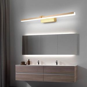 INSPIRA LIFESTYLES - Elise LED Vanity Light - BATHROOM LIGHT, BRUSHED GOLD, LED, LED LIGHT, LIGHT FIXTURE, LIGHTING, LINEAR LIGHT, MAKE UP LIGHT, MINIMALIST, VANITY LIGHT, WALL LAMP, WALL LIGHT
