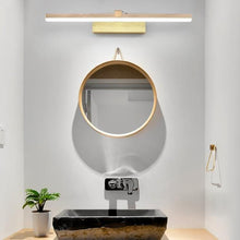 Load image into Gallery viewer, INSPIRA LIFESTYLES - Elise LED Vanity Light - BATHROOM LIGHT, BRUSHED GOLD, LED, LED LIGHT, LIGHT FIXTURE, LIGHTING, LINEAR LIGHT, MAKE UP LIGHT, MINIMALIST, VANITY LIGHT, WALL LAMP, WALL LIGHT