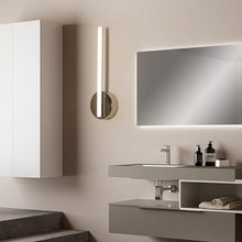 Load image into Gallery viewer, INSPIRA LIFESTYLES - Delta LED Vanity Wall Sconce - ACCENT LIGHT, BATHROOM LIGHT, LED, LED LIGHT, LIGHT FIXTURE, LIGHTING, LINEAR LIGHT, MAKE UP LIGHT, MINIMALIST, POLISHED CHROME, VANITY LIGHT, VANITY WALL SCONCE, WALL LAMP, WALL LIGHT, WALL SCONCE