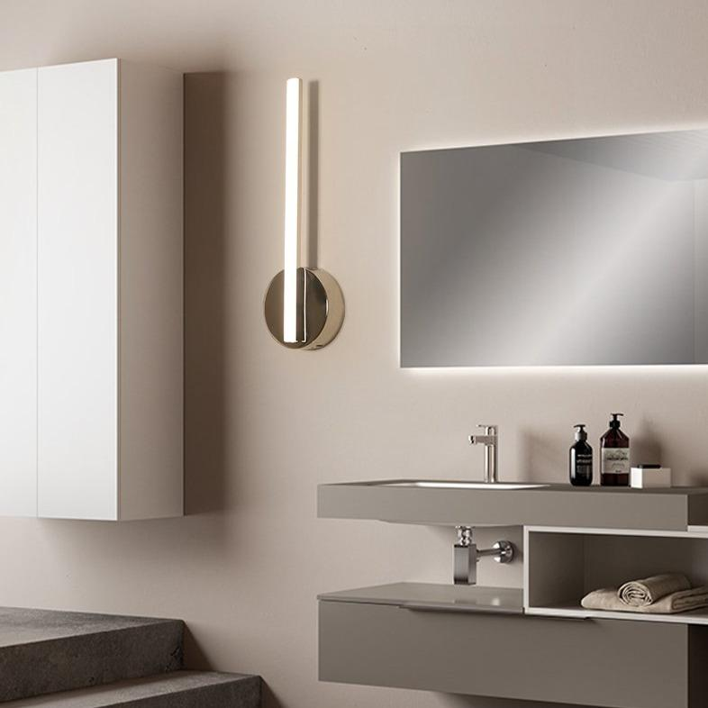 INSPIRA LIFESTYLES - Delta LED Vanity Wall Sconce - ACCENT LIGHT, BATHROOM LIGHT, LED, LED LIGHT, LIGHT FIXTURE, LIGHTING, LINEAR LIGHT, MAKE UP LIGHT, MINIMALIST, POLISHED CHROME, VANITY LIGHT, VANITY WALL SCONCE, WALL LAMP, WALL LIGHT, WALL SCONCE