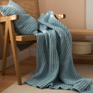 Rib Stitch Knit Throw