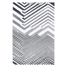 Load image into Gallery viewer, INSPIRA LIFESTYLES - Contrast Monochrome Large Area Rug - ACCENT RUG, ACRYLIC RUG, AREA RUG, BEDROOM CARPET, BLACK AND WHITE RUG, CARPET, CHEVRON RUG, COMMERCIAL, DINING ROOM CARPET, FLOOR MAT, GEOMETRIC RUG, HOTEL CARPET, LIVING ROOM CARPET, MODERN RUG, OBJECTS, OFFICE CARPET, PILE CARPET, RECTANGLE AREA RUG, RUG, RUGS, STRIPE RUG, WOVEN RUG