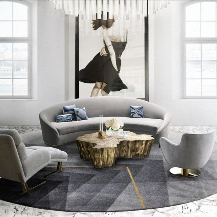INSPIRA LIFESTYLES - Gradating Prismatic Round Area Rug - ACCENT RUG, AREA RUG, BEDROOM CARPET, CARPET, COMMERCIAL, DINING ROOM CARPET, FLOOR MAT, GRADATING, GRAY, HOTEL CARPET, LIVING ROOM CARPET, OFFICE CARPET, PILE CARPET, RUG, WOVEN RUG