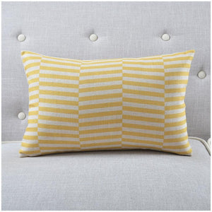 INSPIRA LIFESTYLES - Urban Linen Cotton Blend Pillow - ACCENT PILLOW, ACCESSORIES, BED PILLOW, CHAIR PILLOW, COTTON, DECORATIVE PILLOW, GEOMETRIC, GRID, HOME ACCESSORIES, HONEYCOMB, LINEN, PILLOW, SOFA PILLOW, SOFTGOODS, STRIPES