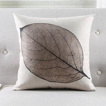 Load image into Gallery viewer, INSPIRA LIFESTYLES - Foliage Linen Cotton Blend Pillow - ACCENT PILLOW, ACCESSORIES, BED PILLOW, CHAIR PILLOW, COTTON, DECORATIVE PILLOW, FERNS, FOLIAGE, HOME ACCESSORIES, LEAVES, LINEN, PILLOW, SOFA PILLOW, SOFTGOODS