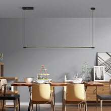 Load image into Gallery viewer, INSPIRA LIFESTYLES - Minimalist Linear LED Pendant - CHANDELIER, LED, LED LIGHT, LIGHT, LIGHT FIXTURE, LIGHTING, LIGHTS, LINEAR LIGHT, MINIMAL LIGHT FIXTURE, MINIMALIST, MODERN, MODERN CHANDELIER, MODERN PENDANT, PENDANT, PENDANT LIGHT, SIMPLE DESIGN, STREAMLINE