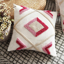 Load image into Gallery viewer, Red Diamond Tufted Pillow