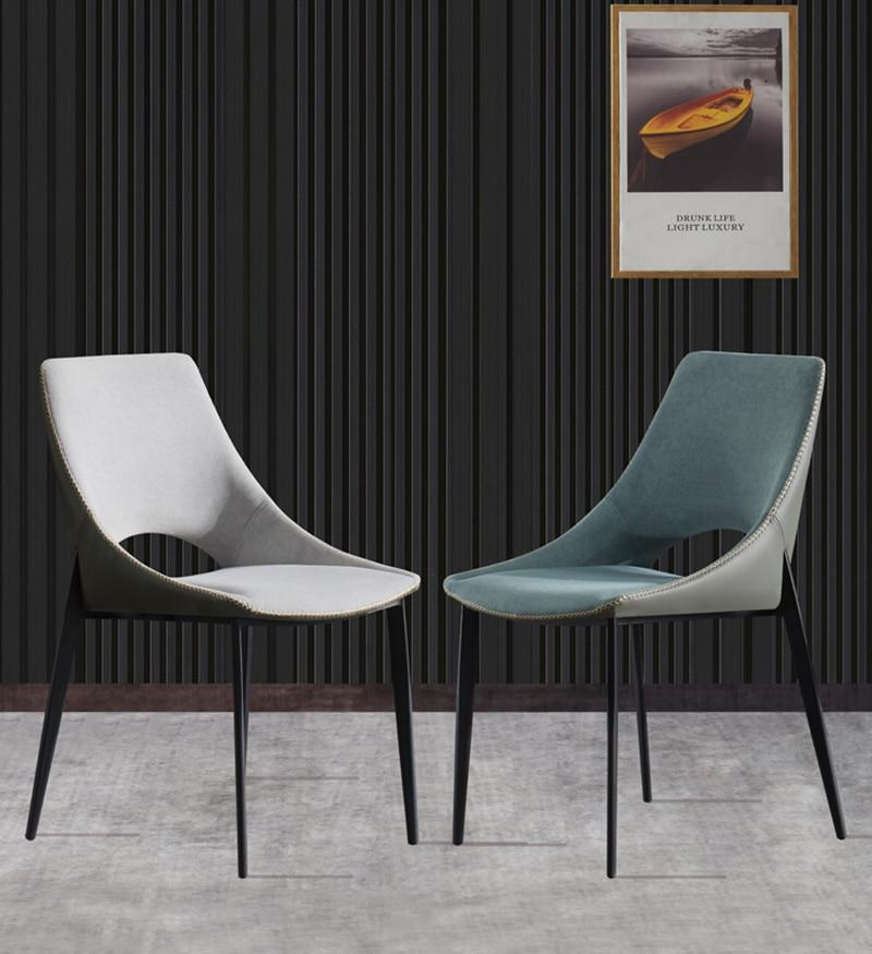 INSPIRA LIFESTYLES - Edge Stitched Leather Chair - ACCENT CHAIR, CHAIR, CHAIRS, DINING CHAIR, LEATHER CHAIR, LEISURE CHAIR, LUXURY, MAKE UP CHAIR, MINIMAL, MODERN, MODERN CHAIR, NORDIC CHAIR, PLUSH FABRIC CHAIR, RESTAURANT CHAIR, UPHOLSTERED CHAIR
