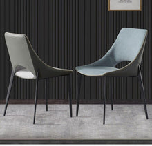 Load image into Gallery viewer, INSPIRA LIFESTYLES - Edge Stitched Leather Chair - ACCENT CHAIR, CHAIR, CHAIRS, DINING CHAIR, LEATHER CHAIR, LEISURE CHAIR, LUXURY, MAKE UP CHAIR, MINIMAL, MODERN, MODERN CHAIR, NORDIC CHAIR, PLUSH FABRIC CHAIR, RESTAURANT CHAIR, UPHOLSTERED CHAIR