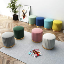 Load image into Gallery viewer, Velvet Rib Upholstered Ottoman