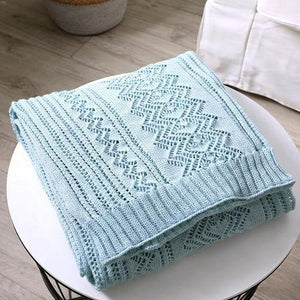 Zigzag Lace Knitted Throw