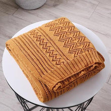Load image into Gallery viewer, Zigzag Lace Knitted Throw