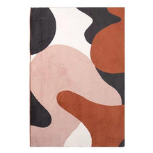 Load image into Gallery viewer, Red & Pink Abstract Area Rug