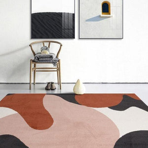 Red & Pink Abstract Area Rug