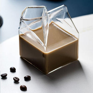 Glass Milk Carton Set
