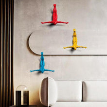 Load image into Gallery viewer, Gliding Man Wall Sculpture