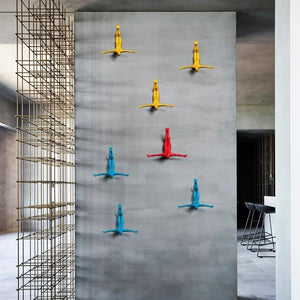 Gliding Man Wall Sculpture