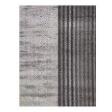 Load image into Gallery viewer, Minimalist Gray Stripe Area Rug