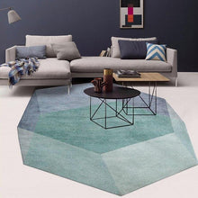 Load image into Gallery viewer, Geometric Green Diamond Area Rug