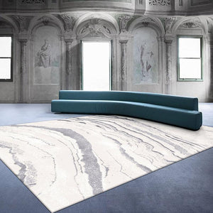 INSPIRA LIFESTYLES - White Marble Large Area Rug - ABSTRACT RUG, ACCENT RUG, ACRYLIC RUG, AREA RUG, BEDROOM CARPET, CARPET, DINING ROOM CARPET, FLOOR COVERING, FLOOR MAT, HOTEL CARPET, LIVING ROOM CARPET, MARBLE, MODERN RUG, PILE CARPET, RECTANGLE AREA RUG, RUG, RUGS, WOVEN RUG