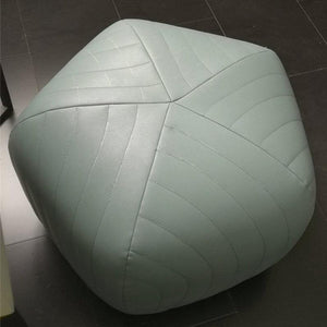 Ribbed Upholstered Ottoman
