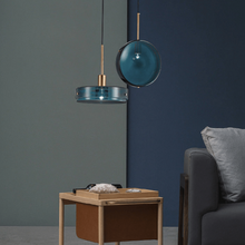 Load image into Gallery viewer, INSPIRA LIFESTYLES - Ocean View Glass Pendant - ANTIQUE BRASS, BLUE, BRASS, CHANDELIER, GLASS SHADE, GOLD, HANGING LIGHT, LED, LIGHT FIXTURE, LIGHTING, LIGHTS, MINIMALIST, MODERN, PENDANT