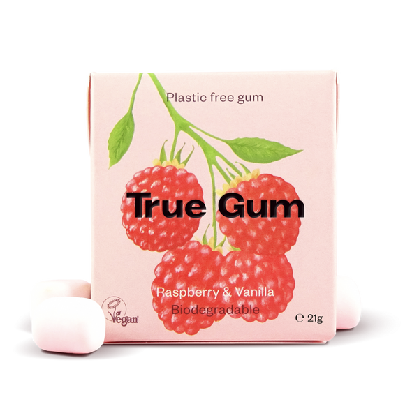 True Gum - Raspberry & Vanilla Pack à 21g