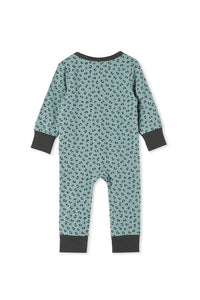 MILKY ANIMAL SLEEP ROMPER BLUE SURF