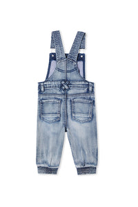 MILKY DENIM OVERALL MID WASH DENIM