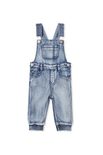 Load image into Gallery viewer, MILKY DENIM OVERALL MID WASH DENIM