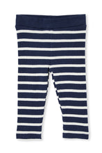 Load image into Gallery viewer, MILKY WAFFLE STRIPE BABY PANTS BLUE