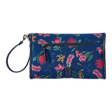 Load image into Gallery viewer, OiOi Baby Travel Change Clutch - Navy Botanical Floral