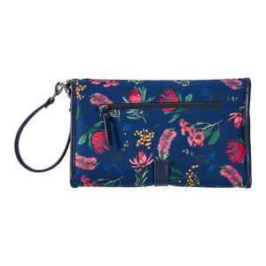 OiOi Baby Travel Change Clutch - Navy Botanical Floral