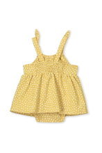 Load image into Gallery viewer, MILKY SPOT BABY PLAYSUIT CHARTREUSE