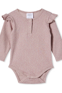 MILKY RIB BUBBYSUIT DUSTY LILAC