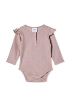 Load image into Gallery viewer, MILKY RIB BUBBYSUIT DUSTY LILAC