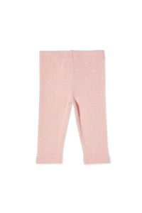 MILKY RIB PANTS MISTY ROSE