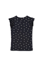 Load image into Gallery viewer, MILKY RIB TEE NAVY FLORAL 7