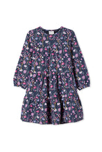 Load image into Gallery viewer, MILKY WILD FLOWER DRESS FRENCH NAVY