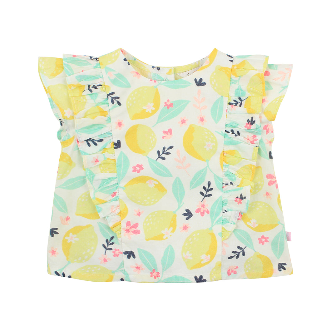 FOX & FINCH FRUITY LEMON BLOUSE