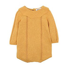 Load image into Gallery viewer, BEBE KAIA KNIT ROMPER MUSTARD