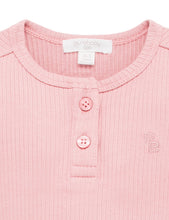 Load image into Gallery viewer, Purebaby Henley Bodysuit PINK