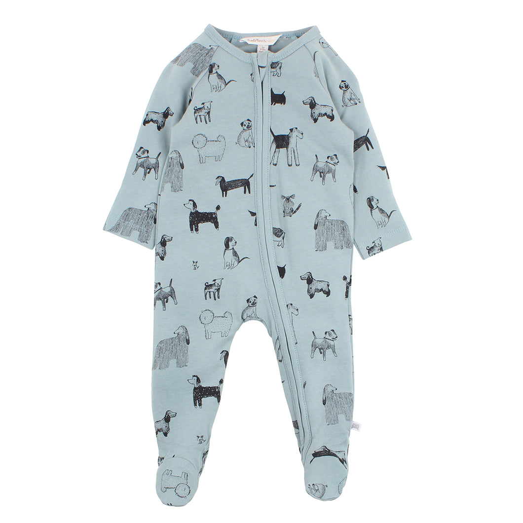 FOX & FINCH WATCH DOG ZIP ROMPER