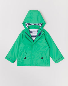 RAINKOAT STRIPY SAILOR ASTRO GREEN 3-4