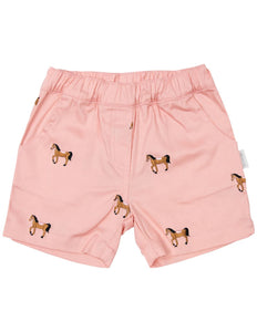 KORANGO HORSE EMBROIDERED SHORT PINK