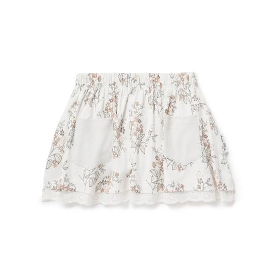ASTER & OAK SUMMER FLORAL LACE SKIRT